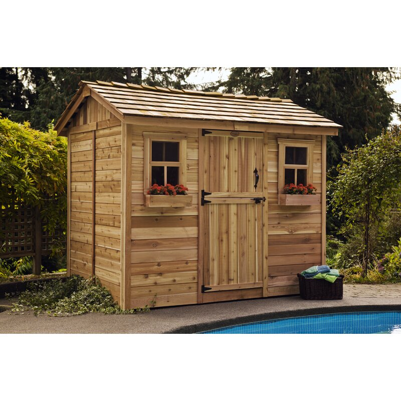 Outdoor Living Today Cabana 9 ft. W x 6 ft. D Wooden ... on Outdoor Living Today Cabana id=18640