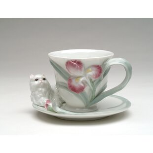 Persian Cat 4 oz .Cup and Saucer Set