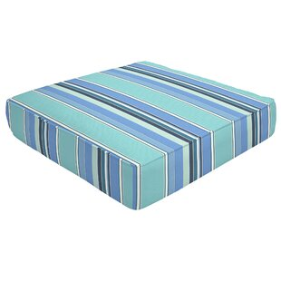Double Piped Indoor/Outdoor Sunbrella Ottoman Cushion by Eddie Bauer