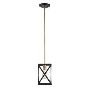 Price comparison Tanksley 1-Light Square/Rectangle Pendant By Brayden Studio
