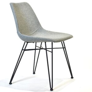 Amazing Odette Side Chair In Light Gray Fabric (Set Of 2)