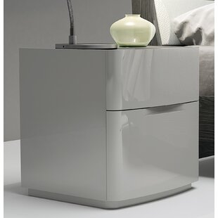 Siegle 2 Drawer Nightstand by Orren Ellis