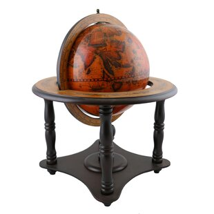 Old World Globe on Wood Base by Three Star Im/Ex Inc.