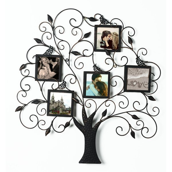 AdecoTrading Collage Wall Hanging 5 Opening Picture Frame