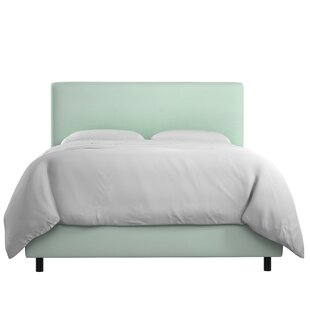 Mercury Row Bugg Velvet Upholstered Panel Bed