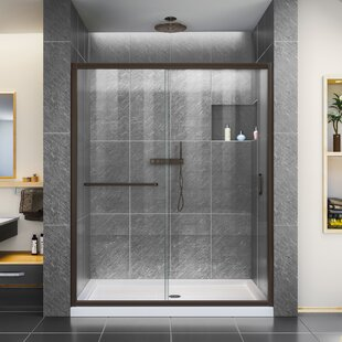 DreamLine Infinity-Z 32 in. D x 54 in. W x 74 3/4 in. H Clear Sliding Shower Door