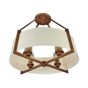 Meyda Tiffany Greenbriar 4-Light Semi-Flush Mount