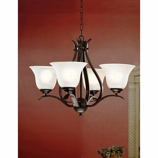 Monhollan 4-Light Shaded Chandelier by Winston Porter