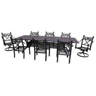 California Outdoor Designs Baldwin 9 Piece Dining Set