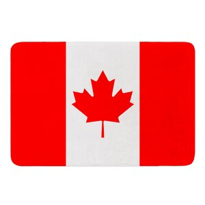 Flag of Canada by Bruce Stanfield Memory Foam Bath Mat