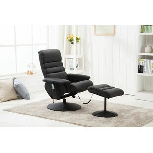 Electric Vibrating Reclining Massage Chair With Ottoman By Ebern Designs