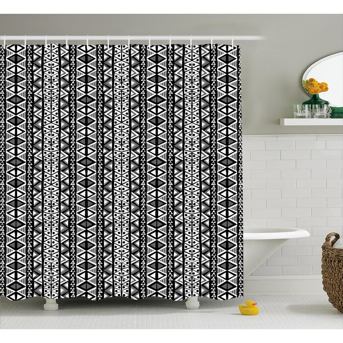 Bangs Ethnic Boho Aztec Decor Shower Curtain