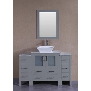 Sophia 54 Single Bathroom Vanity Set with Mirror by Bosconi