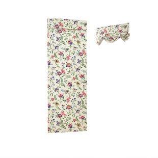 Carolina Crewel Flora/ Flower Semi-Sheer Single Curtain Panel by Waverly