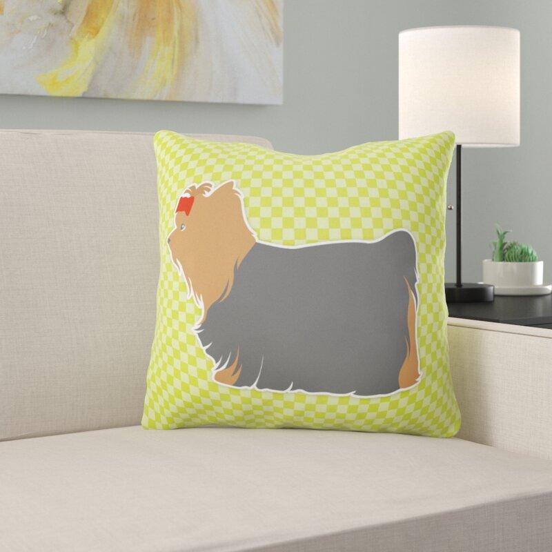 East Urban Home Yorkshire Terrier Indoor Outdoor Throw Pillow Wayfair
