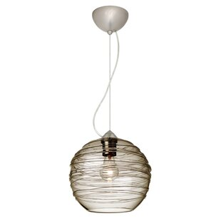 Wave 1-Light Globe Pendant by Besa Lighting