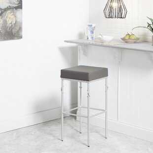 Dabbs Upholstered 24'' Bar Stool by Ebern Designs Savings