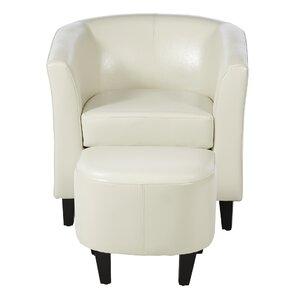 Apollonios Retro Barrel Chair And Ottoman