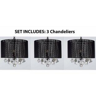 Mercer41 Jocelyn 3-Light Drum Chandelier