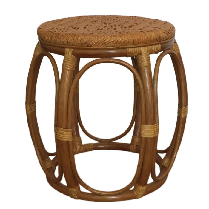 Larry Rattan Wicker Garden Stool