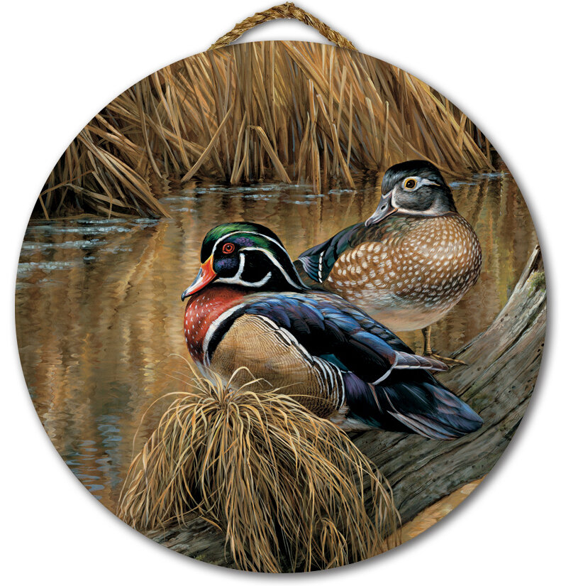 Back Waters Wood Duck Painting Print On Wood