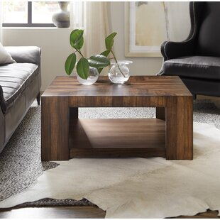 Across the Grain Rectangle Coffee Table with Tray Top
