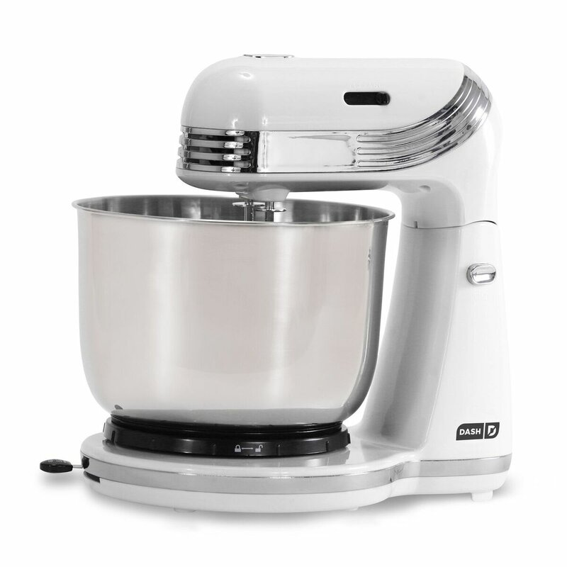 DASH Everyday 6 Speed 2.5 Qt. Stand Mixer Color: White