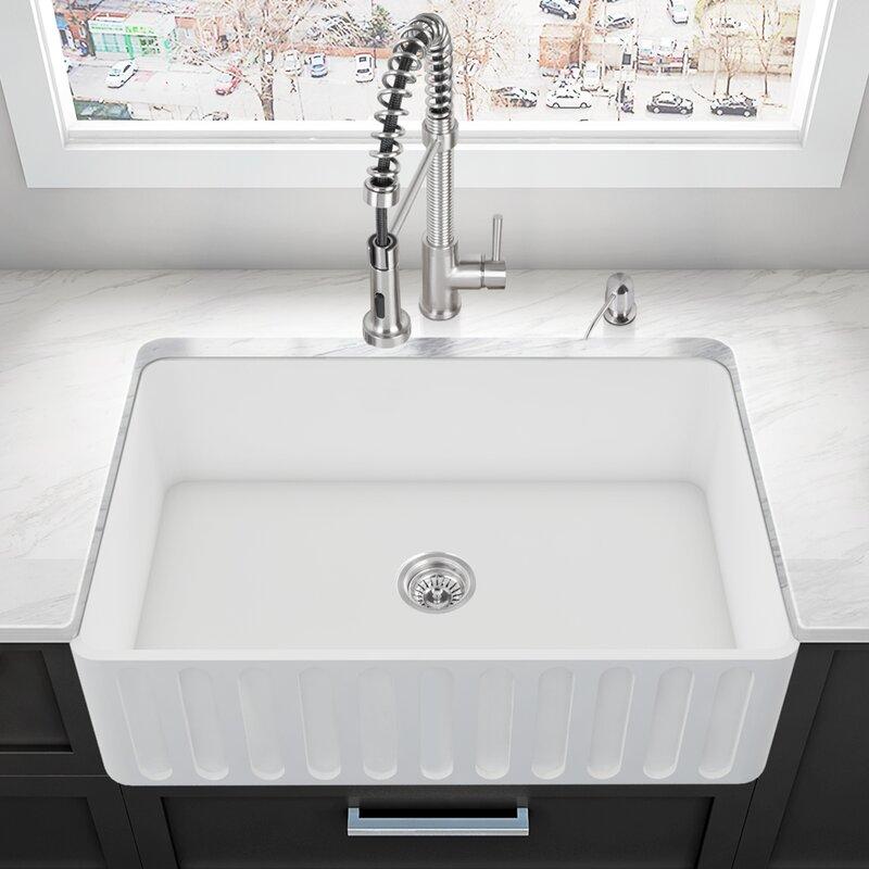 Vgra3318cs 33 L X 18 W Farmhouse A Kitchen Sink With Basket Strainer