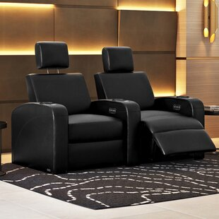 Power Recline Leather Row Seating Row of 2
