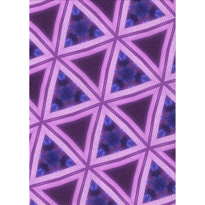 Ebern Designs Geometric Wool Purple Dark Blue Area Rug Wayfair