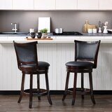 Alzamora Bar & Counter Swivel Stool (Set of 2) by World Menagerie