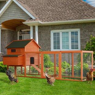 Camara Deluxe Outdoor Chicken Coop With Nesting Box And Chicken Run By Tucker Murphy Pet