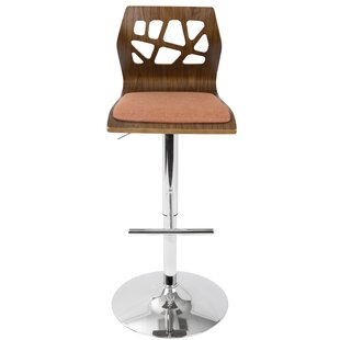 Mcdowell Swivel Adjustable Height Bar Stool Wade Logan