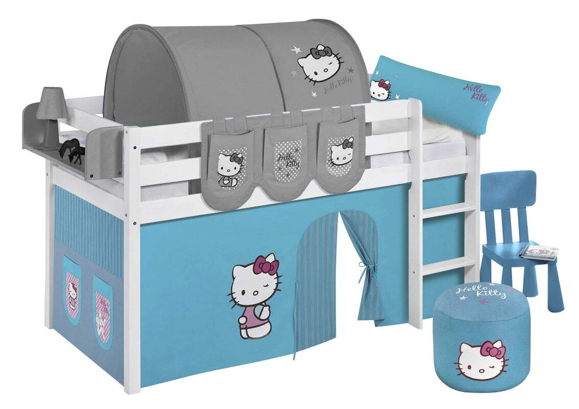 lilokids hochbett hello kitty mit vorhang und lattenrost bewertungen. Black Bedroom Furniture Sets. Home Design Ideas