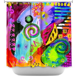 Crazy Abstract II Single Shower Curtain