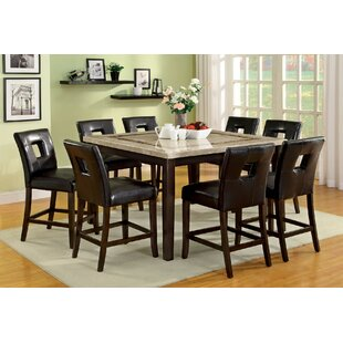 Bayaud 9 Piece Counter Height Dining Set By World Menagerie 2018 Sale