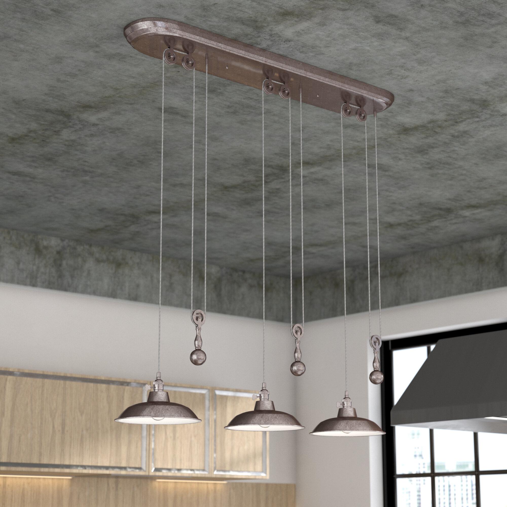 Trent Austin Design Dome Luminaire Suspendu 3 Lumieres Pour Ilot