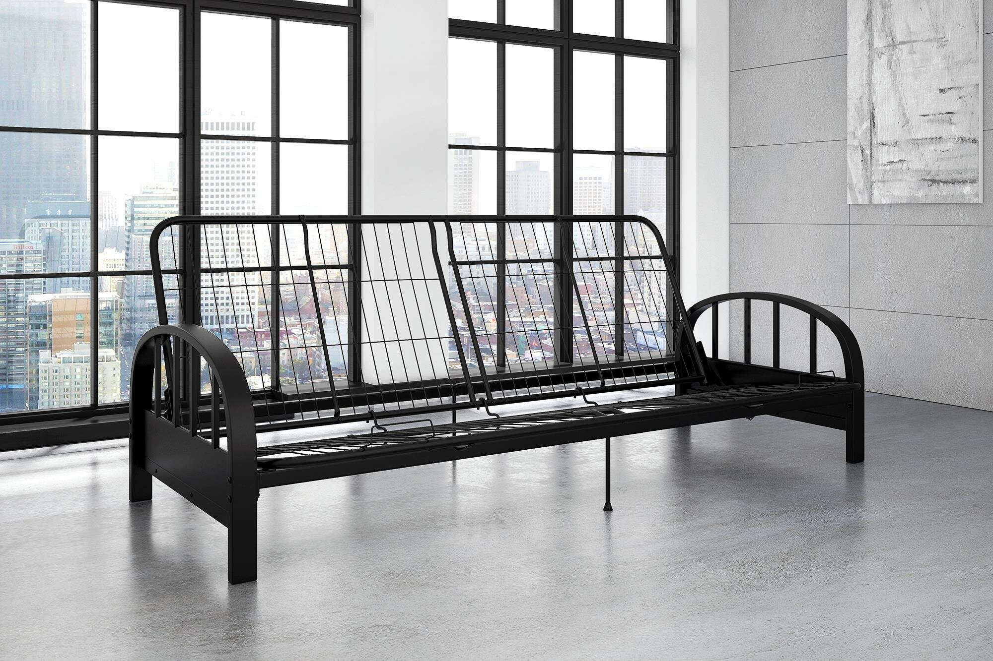 black futon b casual metal futons coaster frame city big