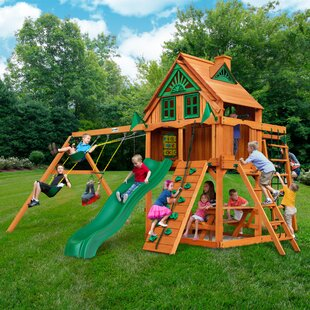 Gorilla Playsets Navigator Treehouse Swing Set