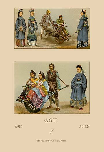 Buyenlarge Asian Costumes And Transportation By Auguste Racinet Vintage Advertisement Wayfair