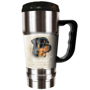 Howard Robinson's Rottweiler 20 oz. Stainless Steel Travel Tumbler