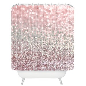 gold and pink shower curtain. Snowfall Shower Curtain Pink Curtains You ll Love