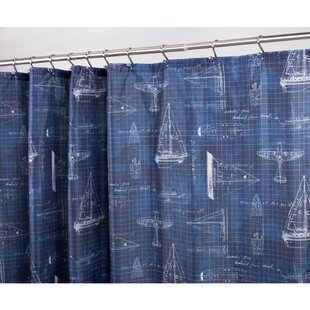 Sailboat Single Shower Curtain