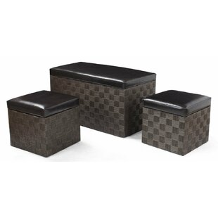3 Piece Storage Ottoman Set by..