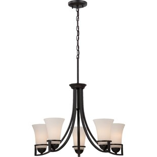 World Menagerie Collin 5-Light Shaded Chandelier