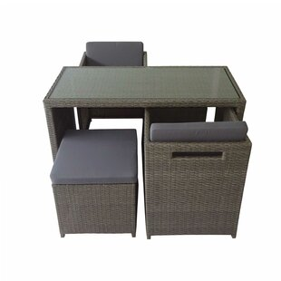 Pickell 5 Piece Conversation Set with Cushions
