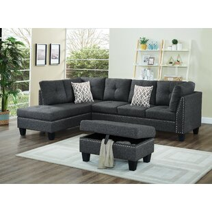 Redington Sectional with Ottoman Winston Porter