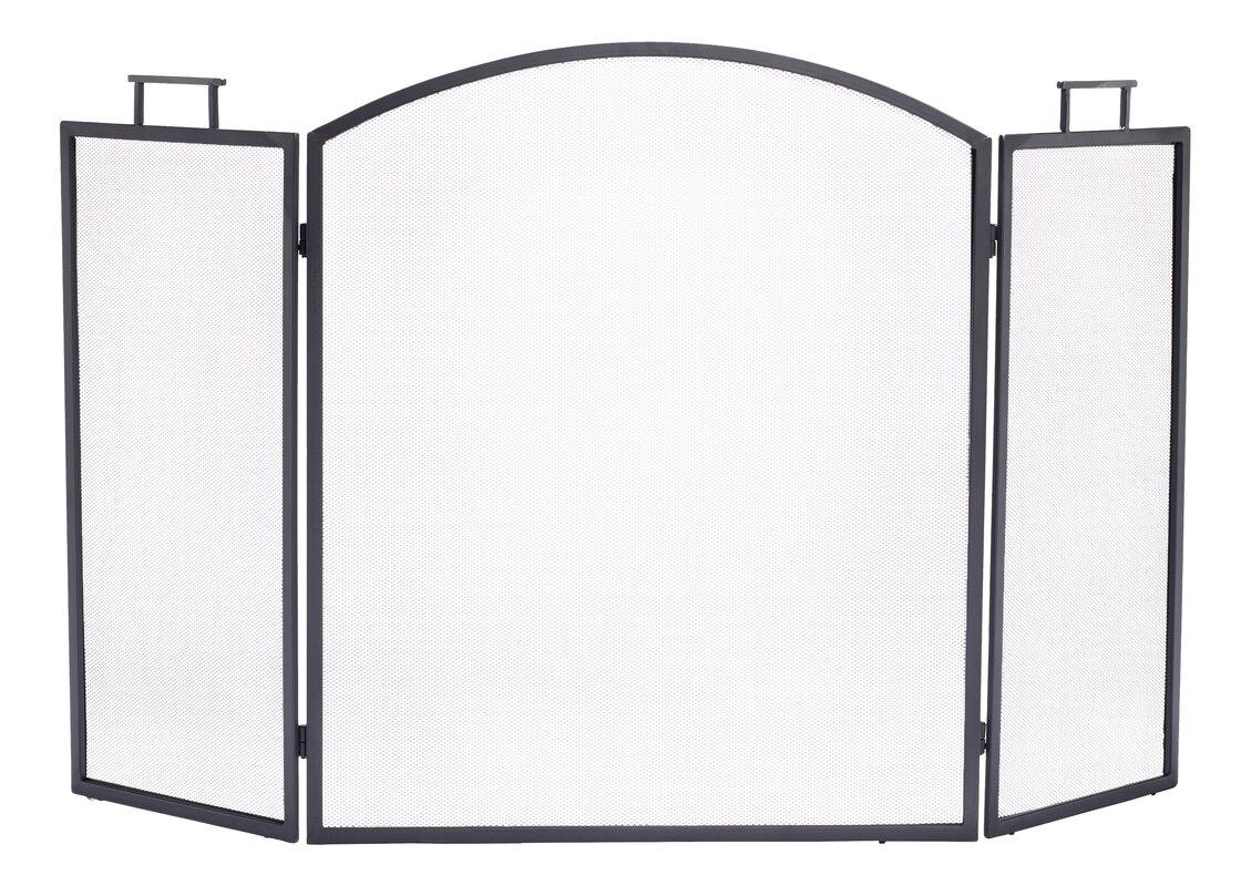 pleasant hearth classic 3 panel steel fireplace screen u0026 reviews