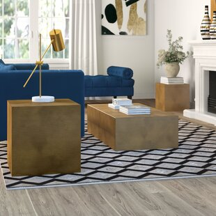 Elderen 3 Piece Coffee Table Set