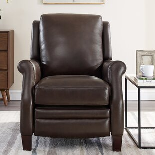 Yearby Premium Leather Manual Glider Recliner by Red Barrel Studio